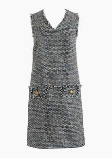 J.Crew V-neck fringe sheath dress in multicolor metallic tweed