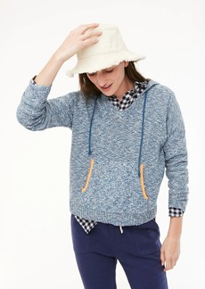 J.Crew V-neck hoodie in marled yarn