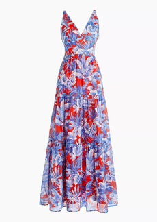 J.Crew V-neck maxi dress in Ratti® Rio floral