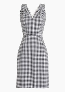 J.Crew V-neck seersucker dress in gingham