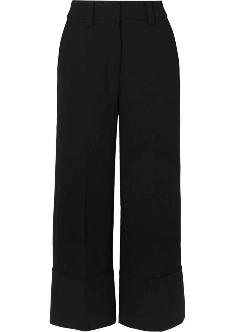 J.Crew Valentin Cropped Crepe Wide-leg Pants