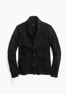 J.Crew Varsity shawl-collar cardigan in textured cotton