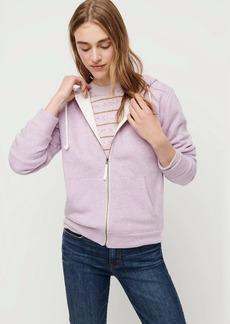 J.Crew Velour-lined hoodie sweatshirt
