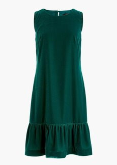 J.Crew Velvet ruffle-hem dress