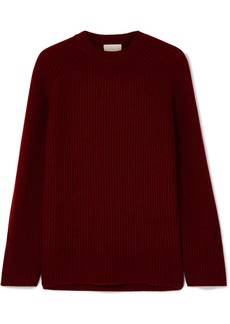 J.Crew Verde Ribbed-knit Cashmere Sweater