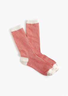 J.Crew Vertical stripe trouser socks