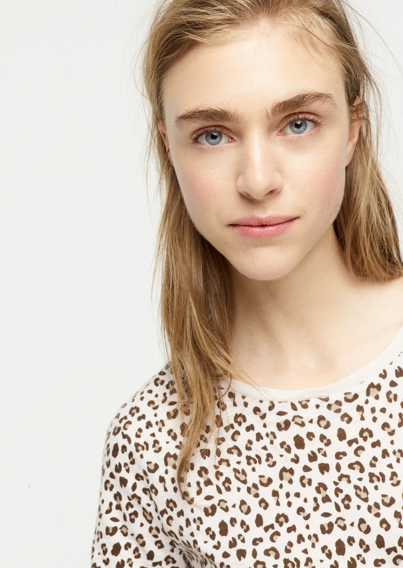 J.Crew Vintage cotton crewneck T-shirt in leopard
