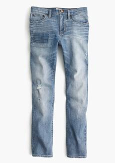Vintage crop jean with patchwork
