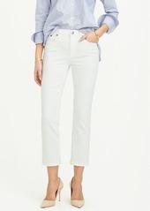J.Crew Vintage cropped jean in white