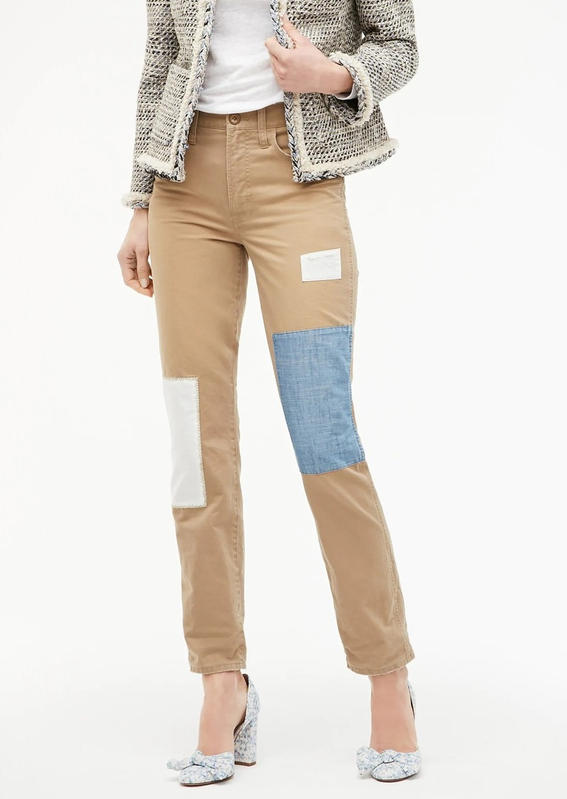 J.Crew Vintage straight chino pant with patchwork