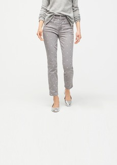 J.Crew Vintage straight jean in grey scattered dot