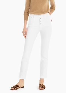 J.Crew Vintage straight jean in white with exposed buttons
