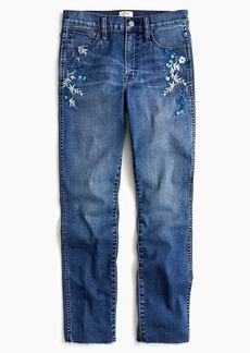 J.Crew Vintage straight jean with embroidery