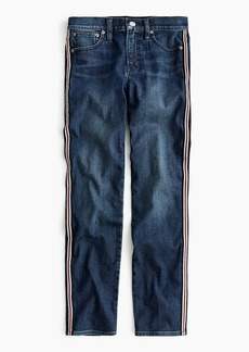 J.Crew Vintage straight jean with metallic side stripes