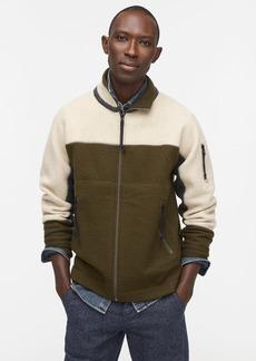 J.Crew Wallace & Barnes boiled merino wool full-zip sweater