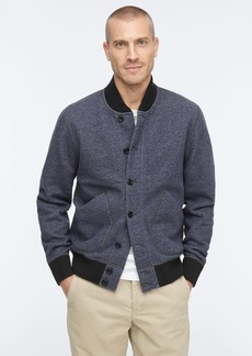 J.Crew Wallace & Barnes fleece bomber jacket