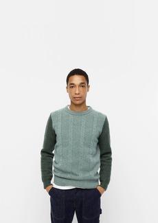 J.Crew Wallace & Barnes lambswool-merino wool crewneck sweater