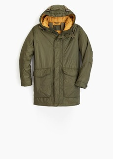 J.Crew Wallace & Barnes lightweight packable parka with eco-friendly Primaloft®