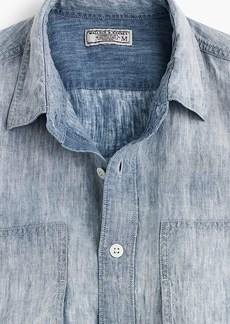 J.Crew Wallace & Barnes linen workshirt in indigo