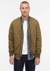 J.Crew Wallace & Barnes quilted knit bomber jacket