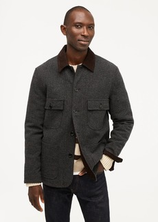 J.Crew Wallace & Barnes quilted wool chore jacket with eco-friendly PrimaLoft®
