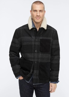 J.Crew Wallace & Barnes sherpa-lined chore coat with eco-friendly PrimaLoft®
