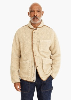 J.Crew Nordic sherpa fleece shawl-collar jacket