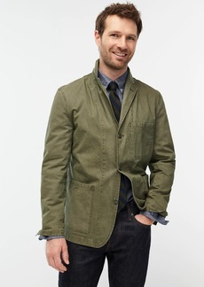 J.Crew Wallace & Barnes slim-fit chore blazer in Italian ripstop cotton