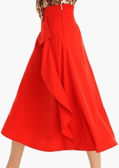 J.Crew Waterfall midi skirt in Tencel™ dobby