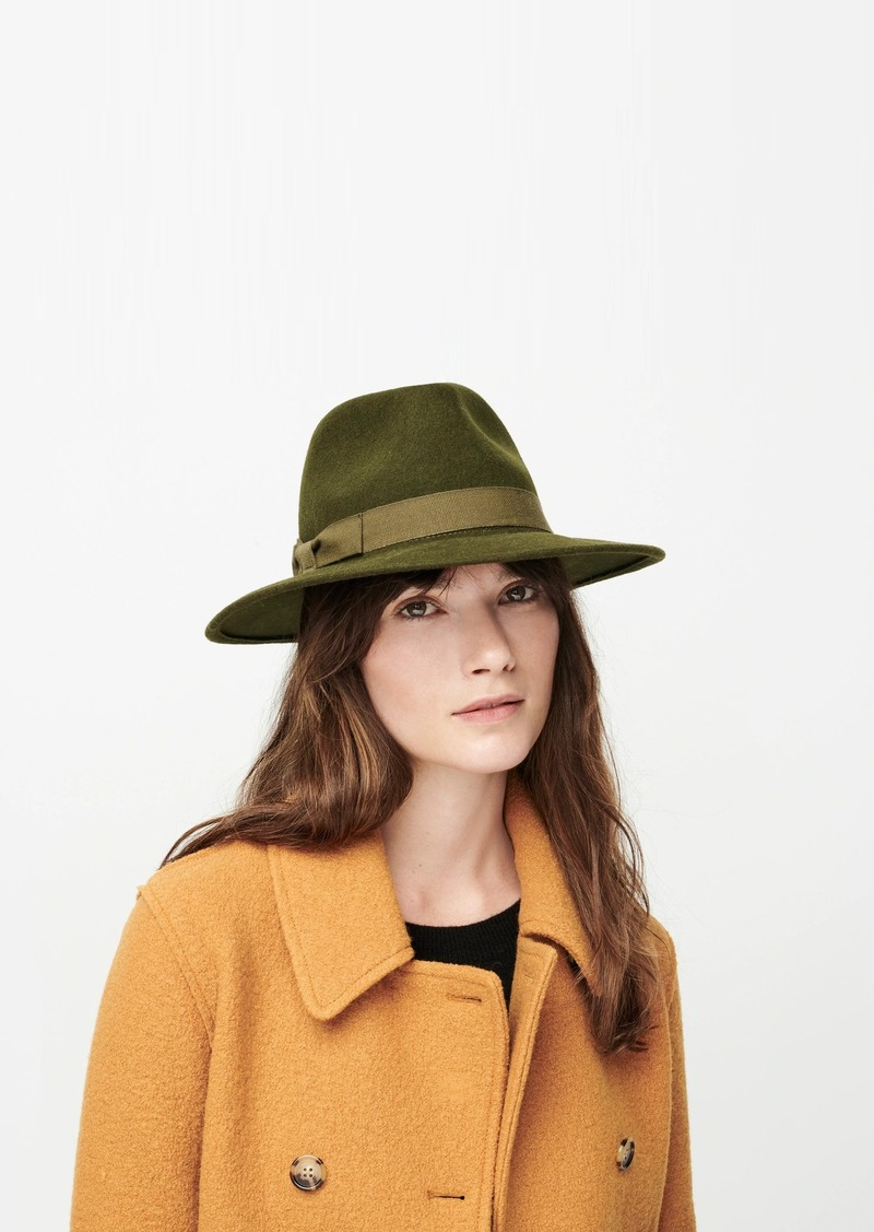 J.Crew Western hat with grosgrain trim