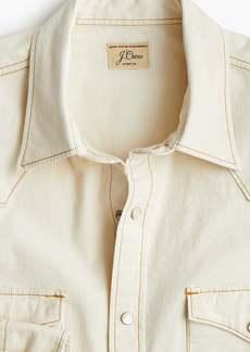 J.Crew Western shirt in cream stretch chambray