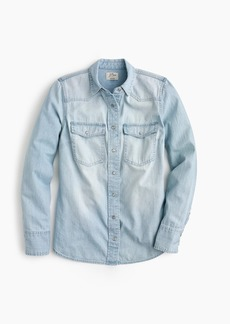 J.Crew Petite Western shirt in light wash