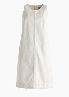 White denim shift dress