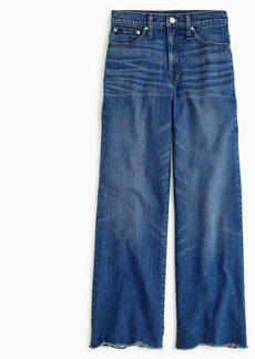 J.Crew Wide-leg cropped jean with chewed hems