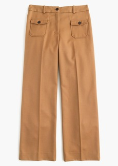 J.Crew Wide-leg pant with patch pockets