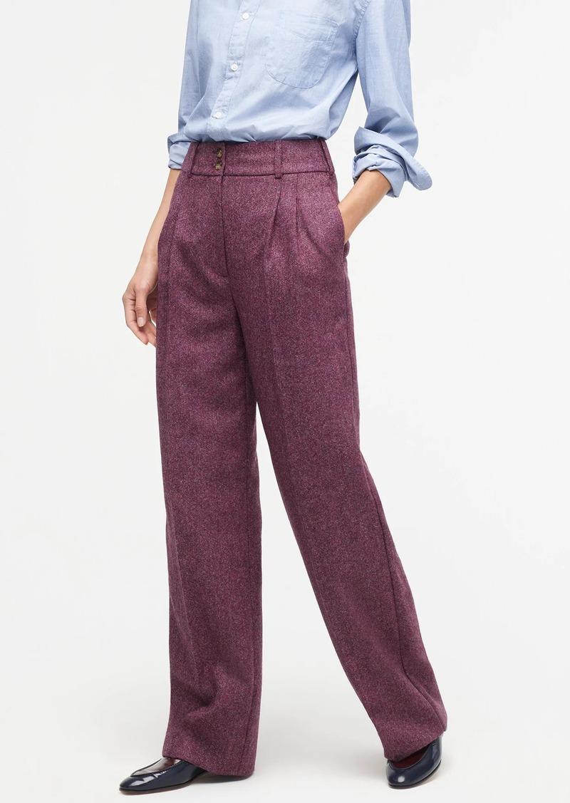 J.Crew Wide-leg pleated pant in wool