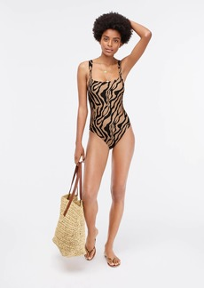 J.Crew Wide-strap one-piece swimsuit inzebra stripe