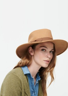 J.Crew Wide Western hat with grosgrain trim