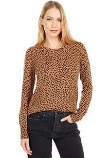 J.Crew Wild Cheetah Cashmere Crew Neck Sweater