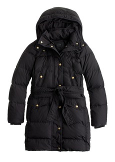 J.Crew Wintress belted puffer coat