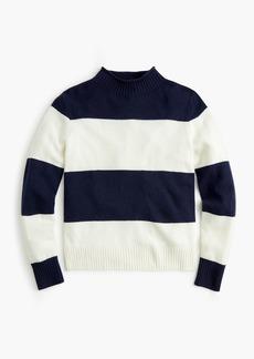 J.Crew Women's 1988 rollneck™ sweater in wide stripes