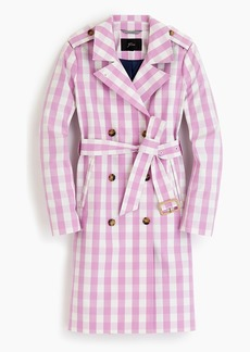 J.Crew Women's 2011 Icon trench in oversized gingham
