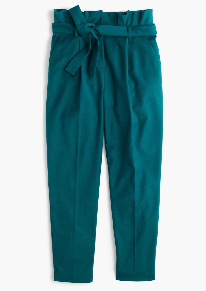 c95de2fdb4 J.Crew Wool flannel pant with paper-bag waist | Casual Pants
