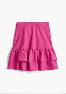 J.Crew Wool flannel ruffle skirt
