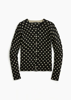 J.Crew Wool Jackie cardigan sweater in polka dots