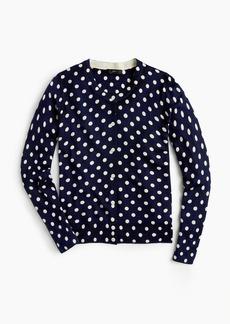 J.Crew Wool Jackie cardigan sweater in polka dots