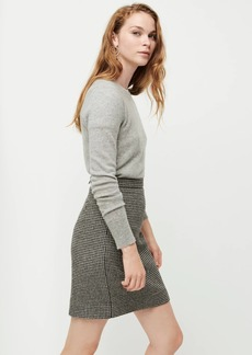 J.Crew Wool mini skirt in houndstooth