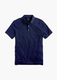 J.Crew Woven-collar polo in Pima cotton