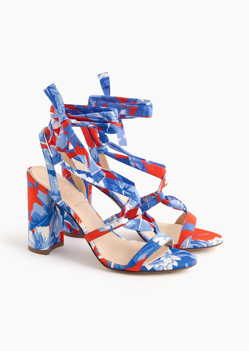 J.Crew Wrap-around heels (100mm) in Ratti® Rio floral