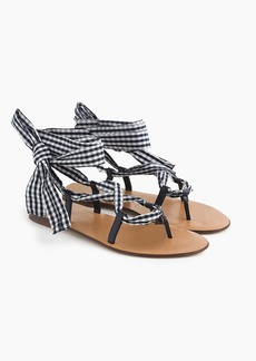 J.Crew Wrap-around sandal in gingham